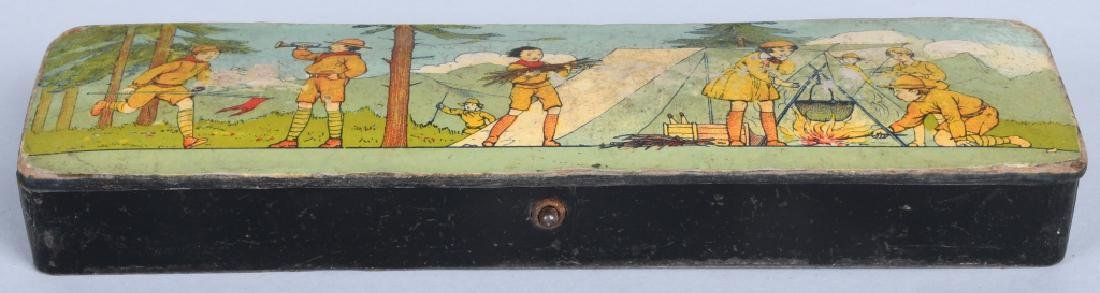 3-EARLY BOY SCOUT PENCIL BOXES - 6