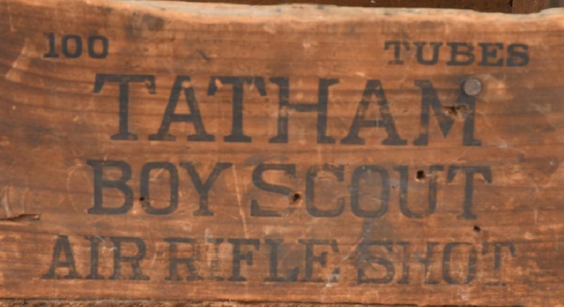 TARTHAM BOY SCOUT AIR RIFLE SHOT WOOD BOX - 2