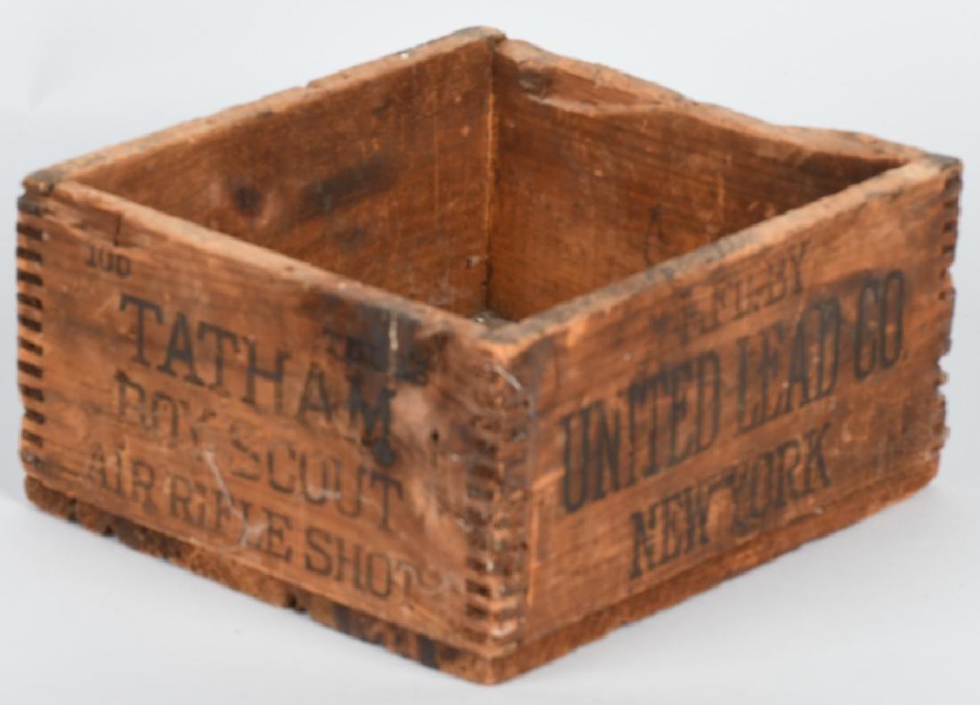 TARTHAM BOY SCOUT AIR RIFLE SHOT WOOD BOX - 4
