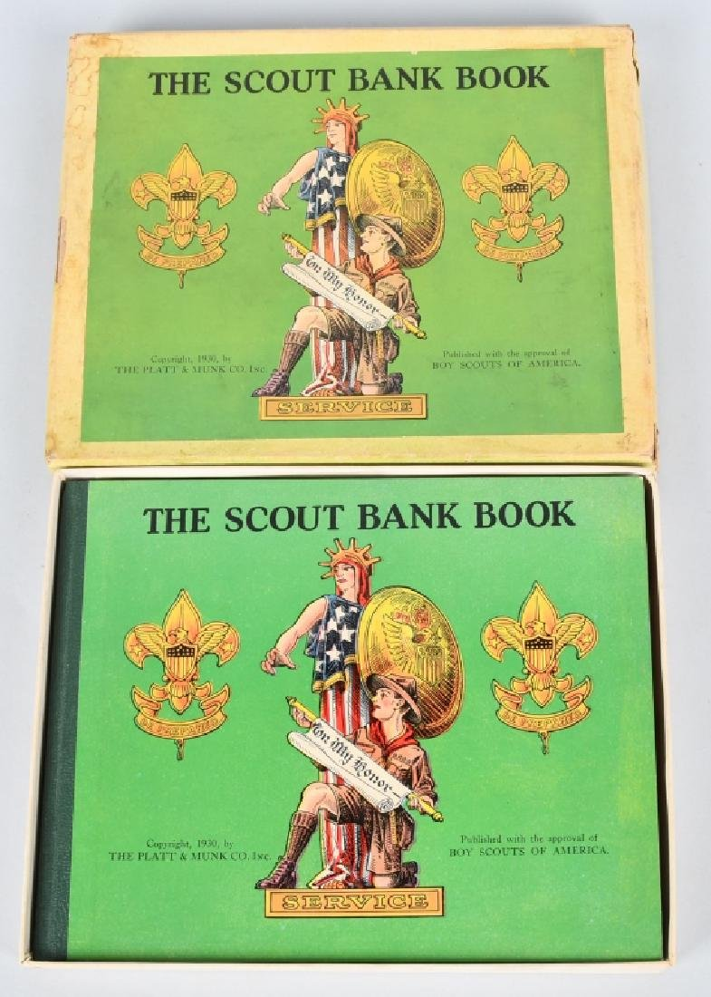 1930. THE SCOUT BANK BOOK, BOXED