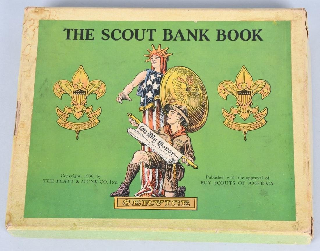 1930. THE SCOUT BANK BOOK, BOXED - 3