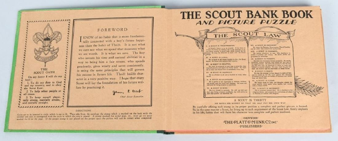 1930. THE SCOUT BANK BOOK, BOXED - 5