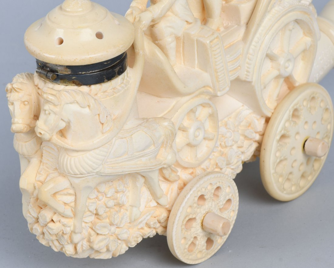"""14\"""" HORSE DRAWN CARRIAGE MEERSCHAUM PIPE ISMAIL - 5"""