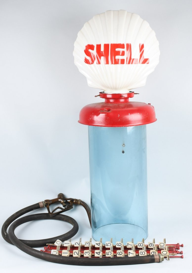 SHELL MILK GLASS GLOBE & VISIBLE GAS PUMP PARTS