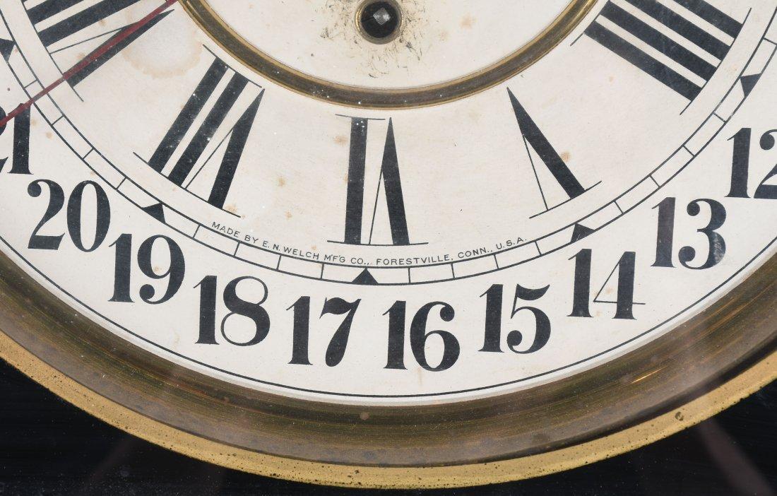 ANTIQUE VINCENT BROS TOBACCO OAK  ADVERTISING CLOCK - 4
