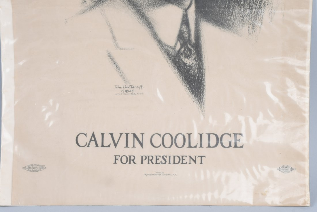 CALVIN COLLIDGE 1924 PRESIDENTIAL POSTER - 3