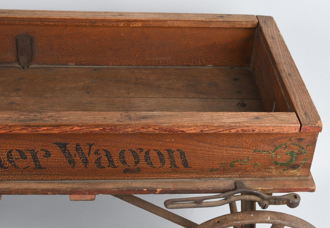 1906 WOOD STAR COASTER WAGON, SPOKED WHEELS - 4