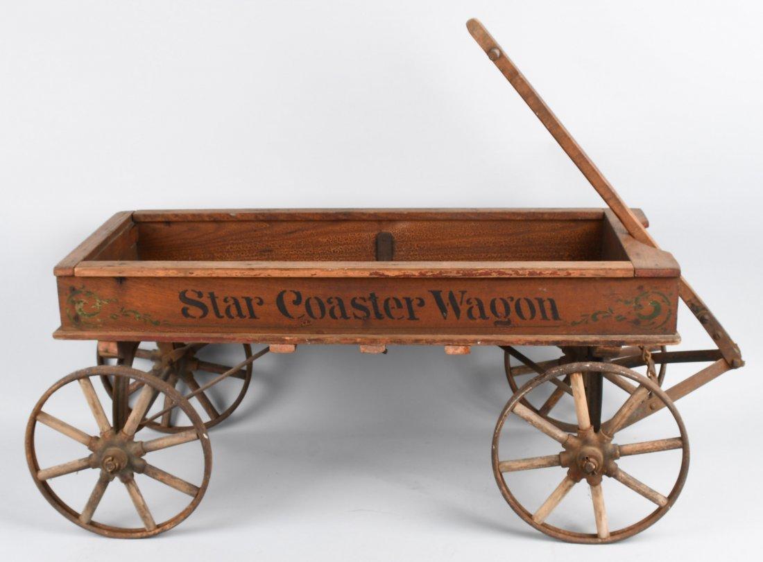 1906 WOOD STAR COASTER WAGON, SPOKED WHEELS - 7
