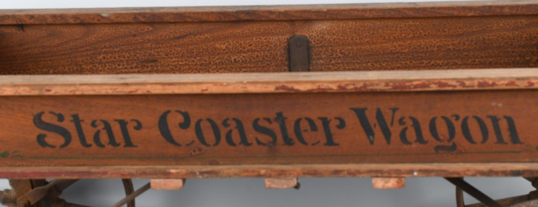 1906 WOOD STAR COASTER WAGON, SPOKED WHEELS - 8