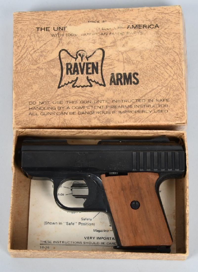 RAVEN ARMS P-25, .25 PISTOL, BOXED