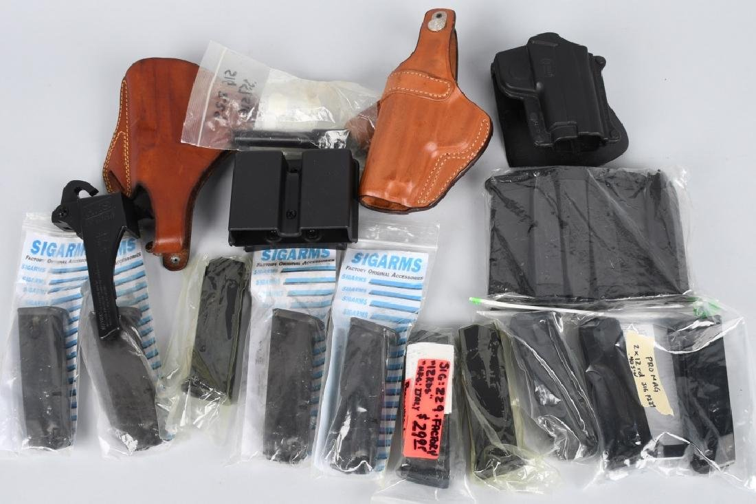 SIG P229 HOLSTERS CLIPS LOADERS BARREL