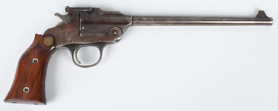 HOPKINS & ALLEN .22 SINGLE SHOT TARGET PISTOL