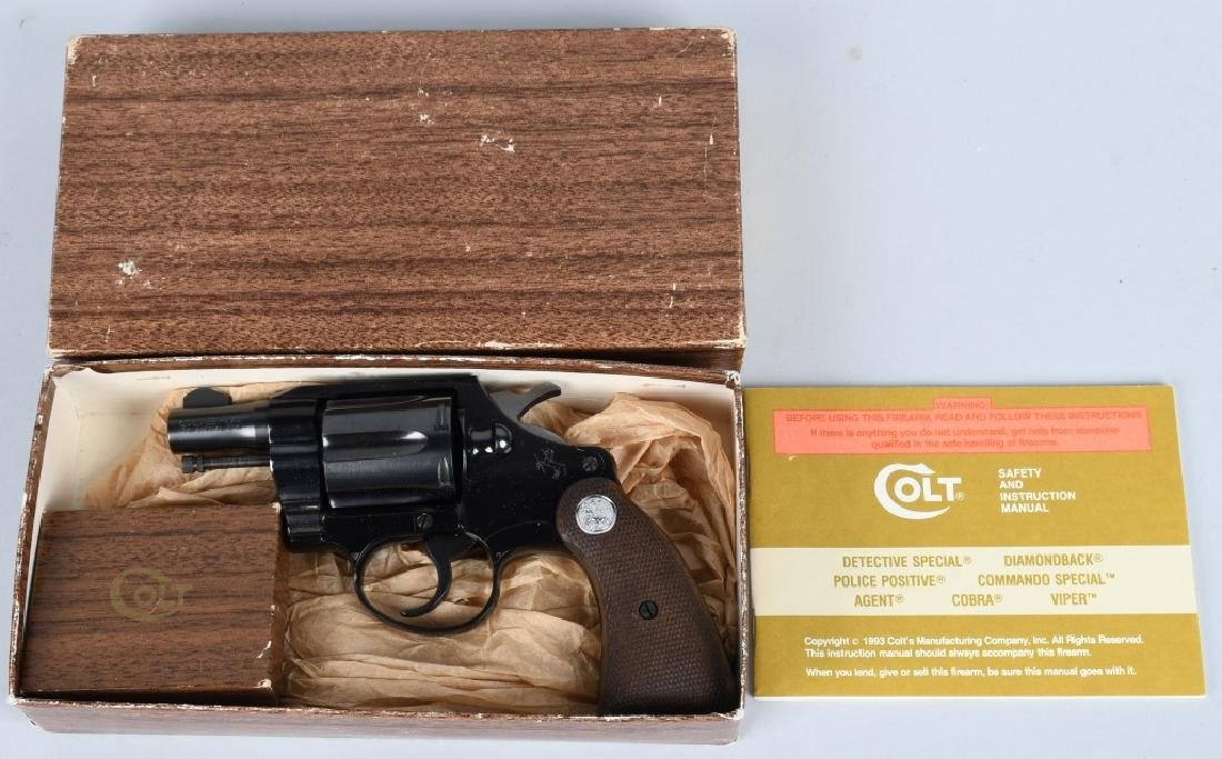 COLT COBRA .38 SPECIAL, w/ HAMMER SHROUD, BOXED