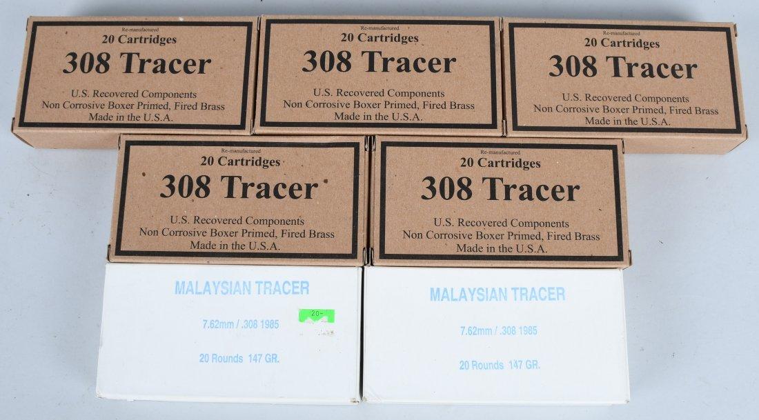 140 ROUNDS .308 TRACER AMMUNITION