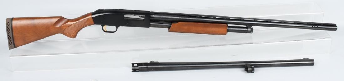 MOSSBERG 500 12 GA PUMP SHOTGUN, EXTRA BARREL