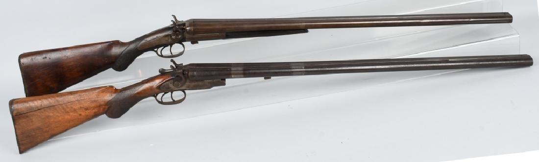 2-ANTIQUE BELGIUM SXS 12 GA. SHOTGUNS