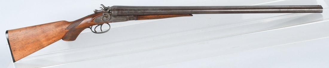 T. BARKER, 19th CENTURY SXS , 12 GA. SHOTGUN
