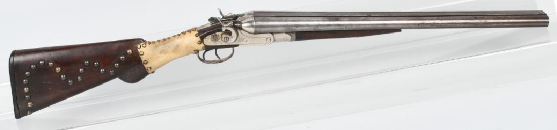 CRESCENT SXS 12 GA. SHOTGUN, TACK & RAW HIDE