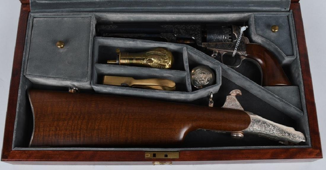 JEFFERSON DAVIS 1851 NAVY REVOLVER, CASED
