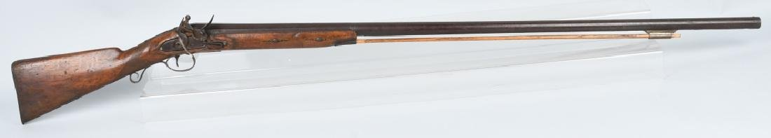 "EARLY FLINTLOCK LARGE CALIBER ""PUNT"" SHOTGUN"