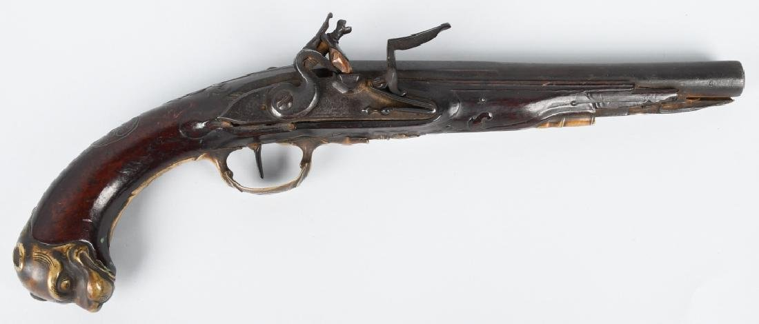 18th CENTURY ORNATE .60 FLINTLOCK PISTOL