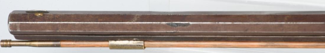 1850's PERCUSSION .41 TIGER MAPLE HALF STOCK RIFLE - 10