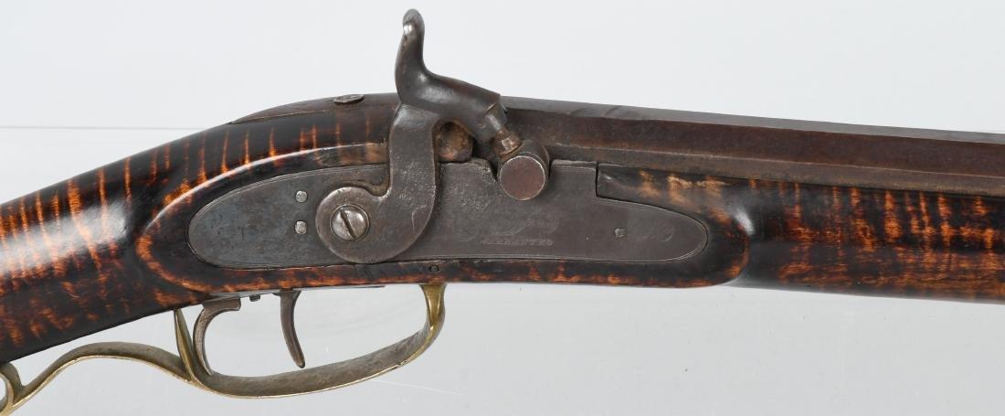 1850's PERCUSSION .41 TIGER MAPLE HALF STOCK RIFLE - 2