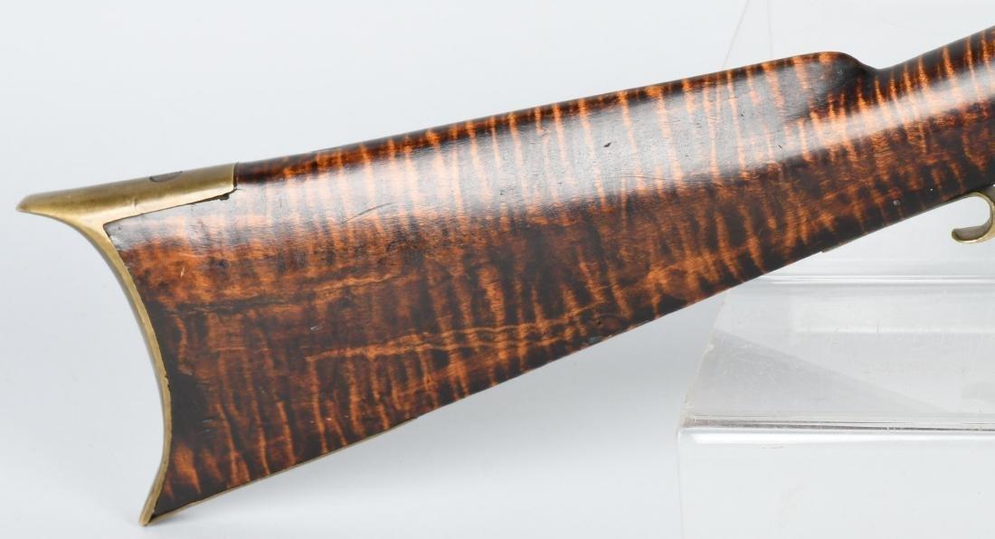 1850's PERCUSSION .41 TIGER MAPLE HALF STOCK RIFLE - 3