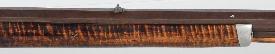 1850's PERCUSSION .41 TIGER MAPLE HALF STOCK RIFLE - 4