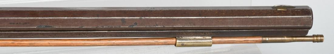 1850's PERCUSSION .41 TIGER MAPLE HALF STOCK RIFLE - 5