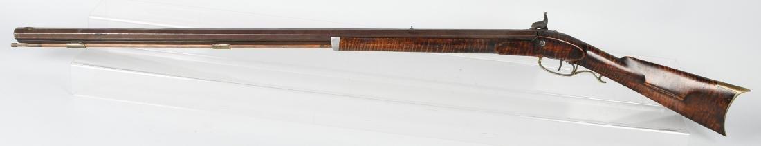 1850's PERCUSSION .41 TIGER MAPLE HALF STOCK RIFLE - 6