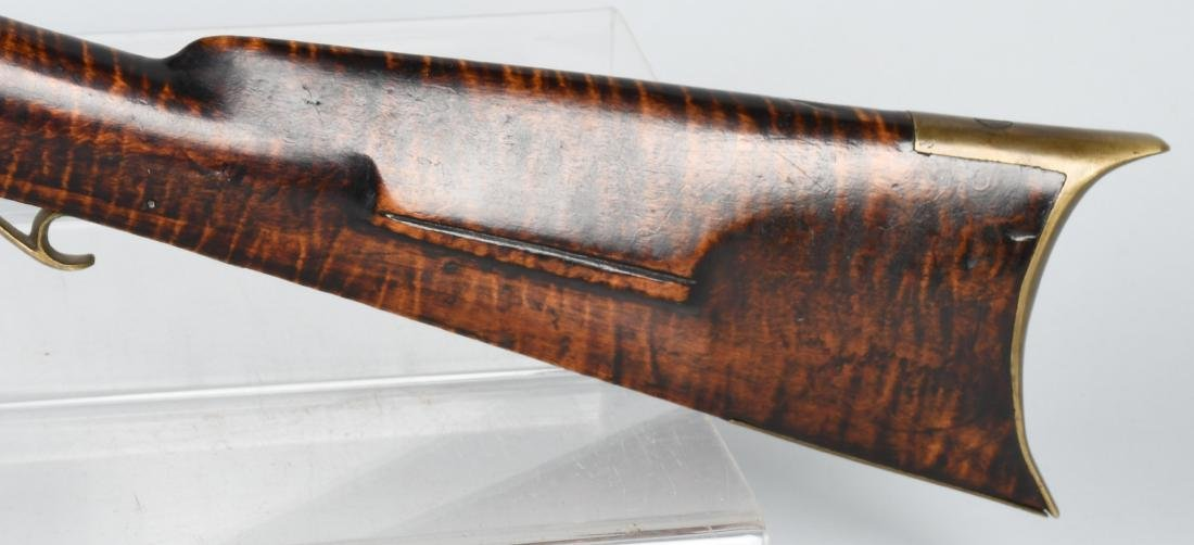 1850's PERCUSSION .41 TIGER MAPLE HALF STOCK RIFLE - 8