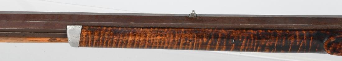 1850's PERCUSSION .41 TIGER MAPLE HALF STOCK RIFLE - 9