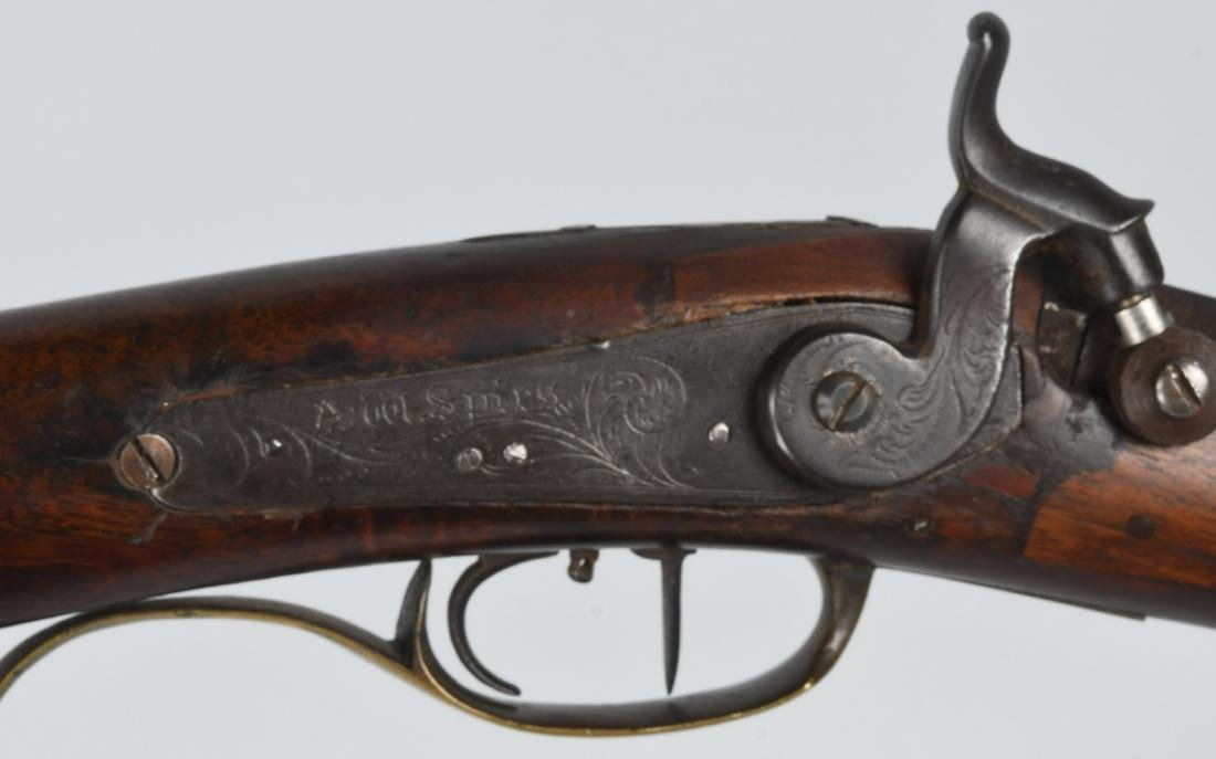 1850'S A.W. SPIES, REINHART PERCUSSION .45 RIFLE - 11