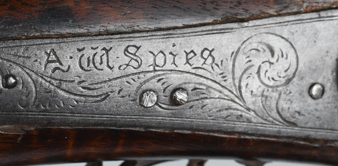 1850'S A.W. SPIES, REINHART PERCUSSION .45 RIFLE - 12