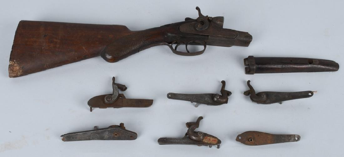 ANTIQUE SHOTGUN LOCKS & OTHER PARTS