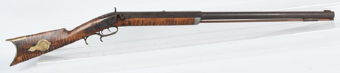 1850'S PERCUSSION HEAVY BARREL .40 TARGET RIFLE