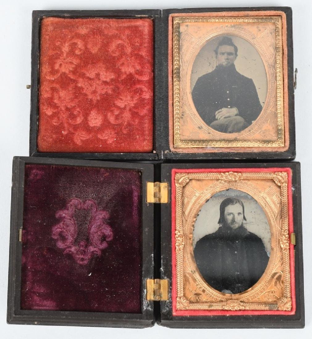 CIVIL WAR 1/9TH PLATE AMBROTYPE LOT