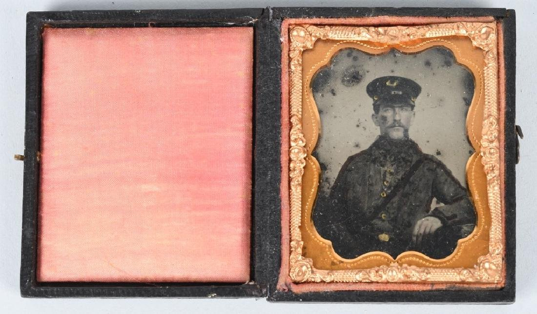 1850s 1/9th PLATE AMBROTYPE M 1840 FORAGE CAP