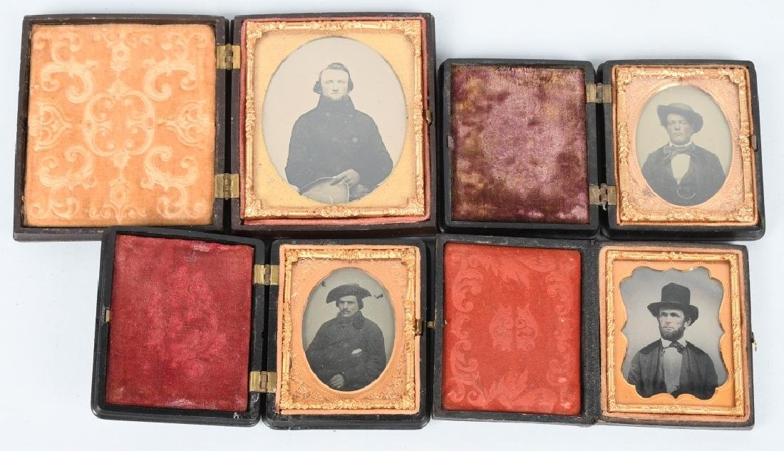 CIVIL WAR ERA AMBROTYPE LOT THERMOPLASTIC CASES