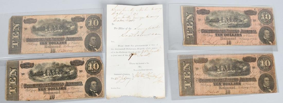 CIVIL WAR CONFEDERATE CURRENCY LOT