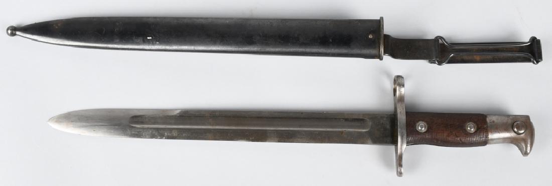 US SPAN AM M1892 KRAG -JORGENSEN BAYONET &SCABBARD