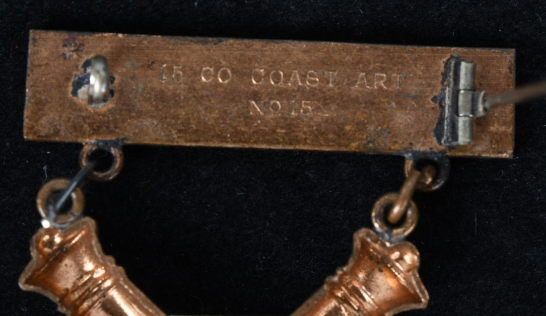 U.S M1903 1ST CLASS COASTAL ARTILLERY GUNNER BADGE - 4