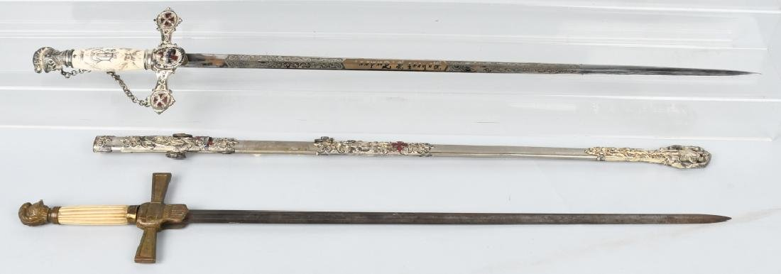 19th CENTURY FRATERNAL SWORD LOT
