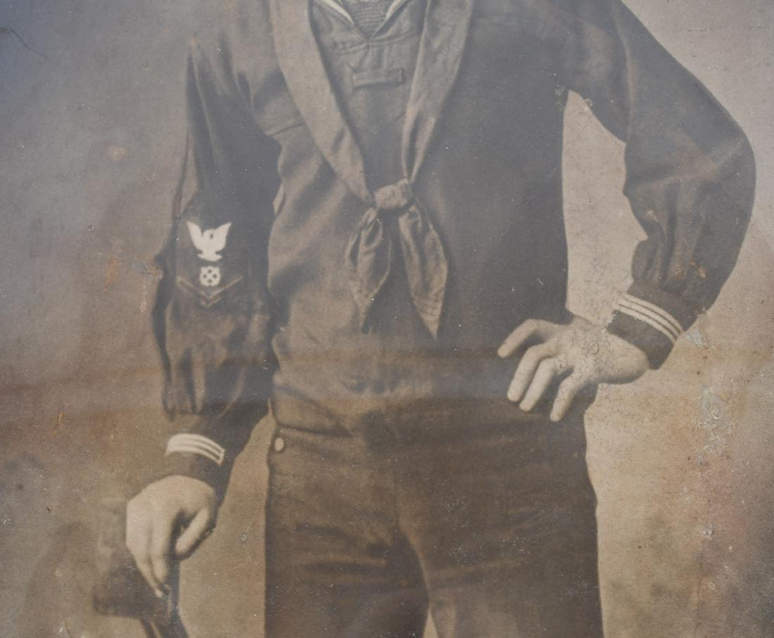 WWI U.S. NAVY FRAMED PHOTO SAILOR - U.S.S. AMPHION - 3