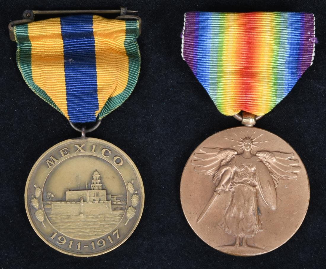 WWI MEXICAN CAMPAIGN NAVY MEDAL NO.& VICTORY MEDAL