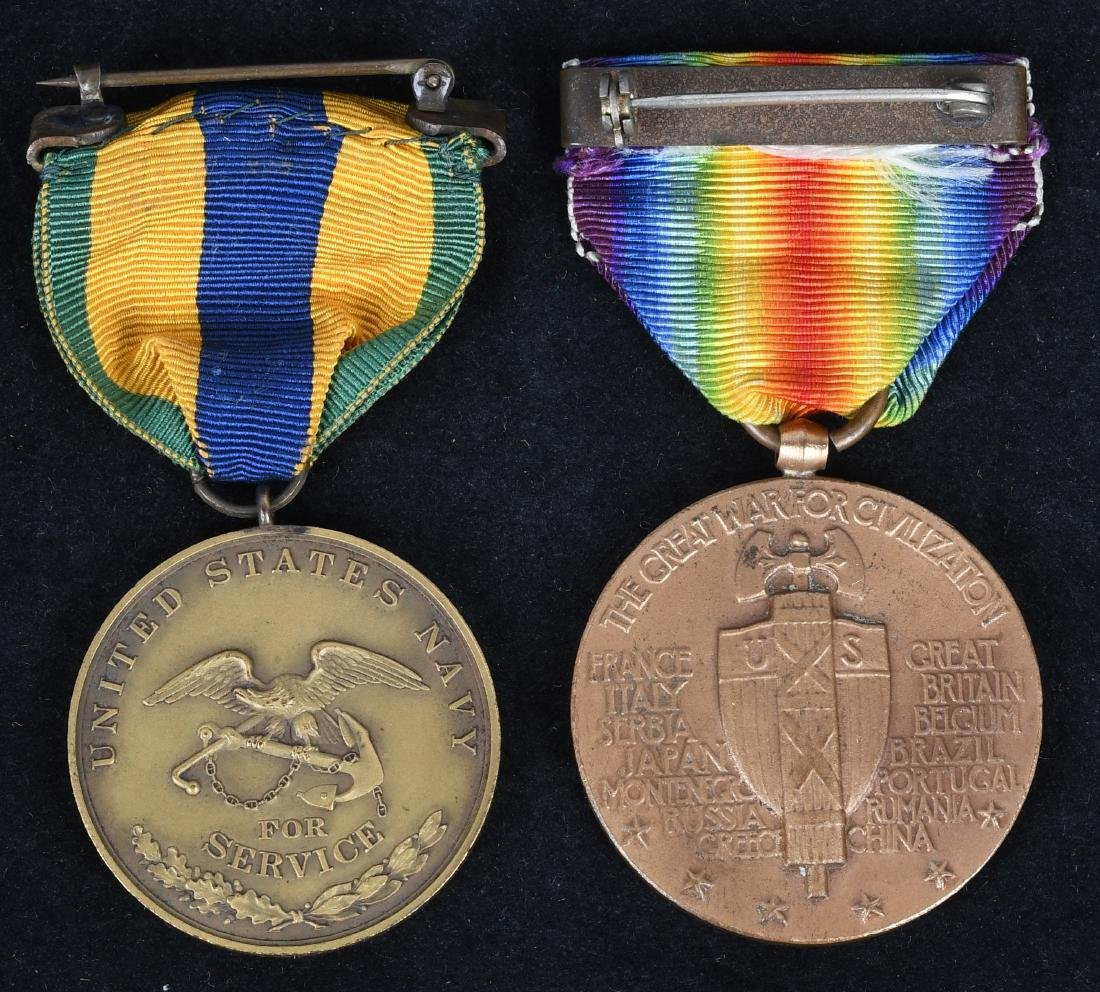 WWI MEXICAN CAMPAIGN NAVY MEDAL NO.& VICTORY MEDAL - 4