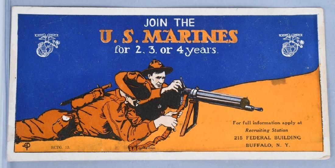 WWI USMC BUFFALO NEW YORK RECRUITING PLACARD
