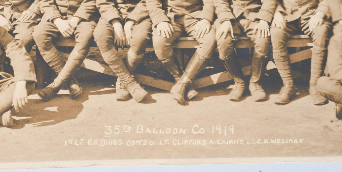 WWI US AIR SERVICE 35TH BALLOON CO. YARD LOG PHOTO - 2