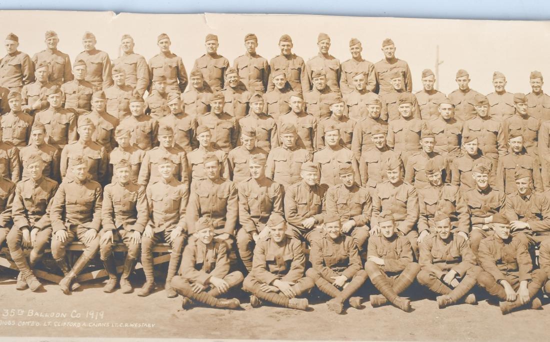 WWI US AIR SERVICE 35TH BALLOON CO. YARD LOG PHOTO - 5